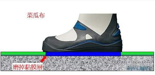 菜瓜布防滑鞋