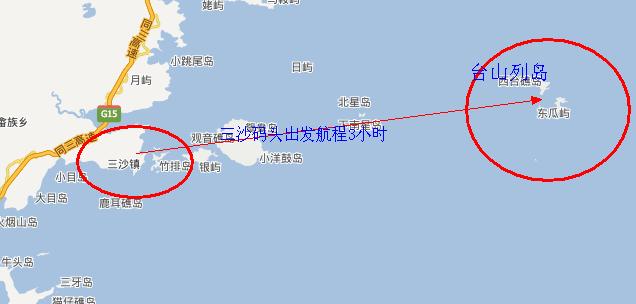 福建台山列岛海钓路线图