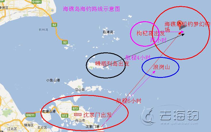 海礁岛海钓路线图